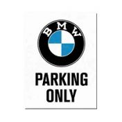 BMW Parking only -jääkaappimagneetti