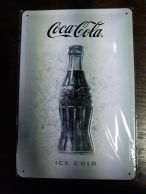 Coca-Cola Ice white -kilpi 20 x 30 cm