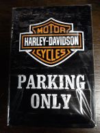Harley Davidson Parking only -kilpi 20 x 30 cm