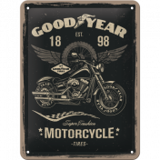 Goodyear Motorcycle - Kilpi 15 x 20 cm