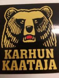 KARHUN KAATAJA -tarra