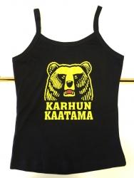 KARHUN KAATAMA -naisten  hihaton t-paita