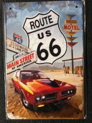 Route 66 Last Chance Gas Station -kilpi 20 x 30 cm